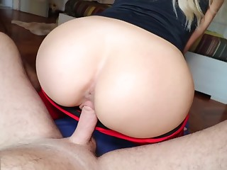 Tow-headed Teen nearby Yoga Pants gets Fucked and Creampied - Cumtonic