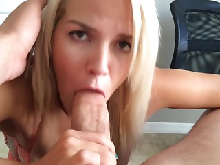 Horny Slut Sucks Fucks & Gets Facial POV