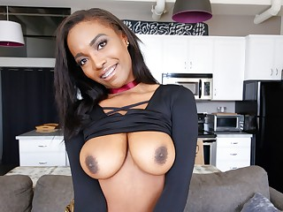 Black Teen With Braces & Natural Big Tits Gets Interview Fuck, POV