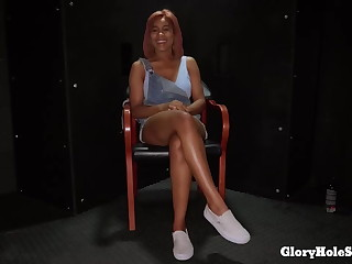 Cute Ebony Sucks Convenient Gloryhole