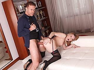 Rocco Siffredi analed hot russian blonde