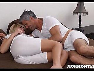 Young Blonde Small Tits Mormon Stepdaughter And Her Stepdad Have Sex