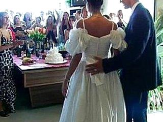 Wedding whores are fucking in public