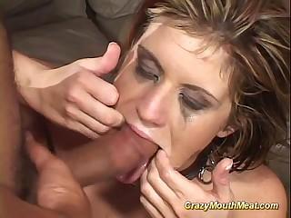 extreme gagging deepthroat bang
