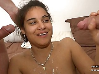 Young amateur french arab 1st time anal fist and DP with facial for her casting