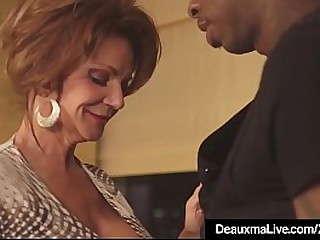 Texas Milf Deauxma spreads her legs in thigh highs & heels to welcome a large black dick that pounds her pussy to no end in this hot interracial hotel fuck clip!