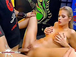 Super hot babe Ria Sunn gets in the famous German Bukkake Arena for some serious facial cumshots and hardcore fucking! German Goo Girls